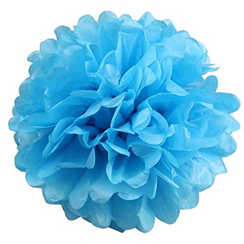 12/pk - 16'' Turquoise Tissue Paper Pom Poms Flower Balls Wedding Decor Party Pompom Party Decoration tokochaircover