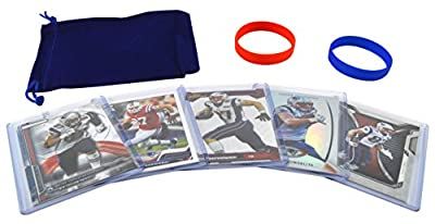 Rob Gronkowski Football Cards & Wristbands Gift Pack New England Patriots (5) Assorted NFL Football Trading Cards