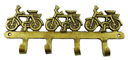 Decorative Bicycle Design Hanging Hook Brass Metal Wall Decor Hook Coat Hanger by Metal Artwork