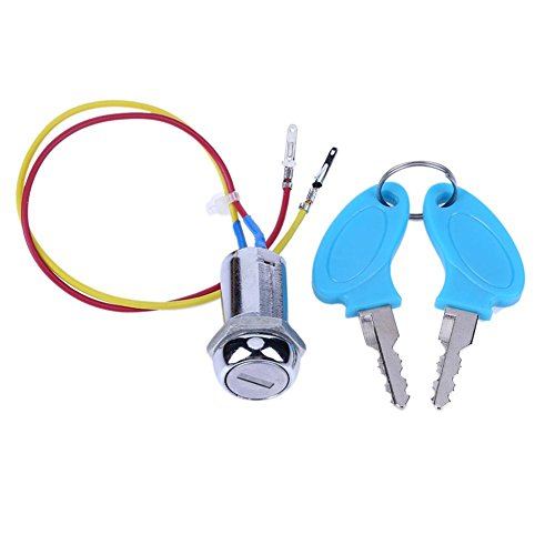 Ignition Switch, 2 Wires Pedal ATV Electric Folding Bike Moped Go-kart Ignition Switch Key by TTnight