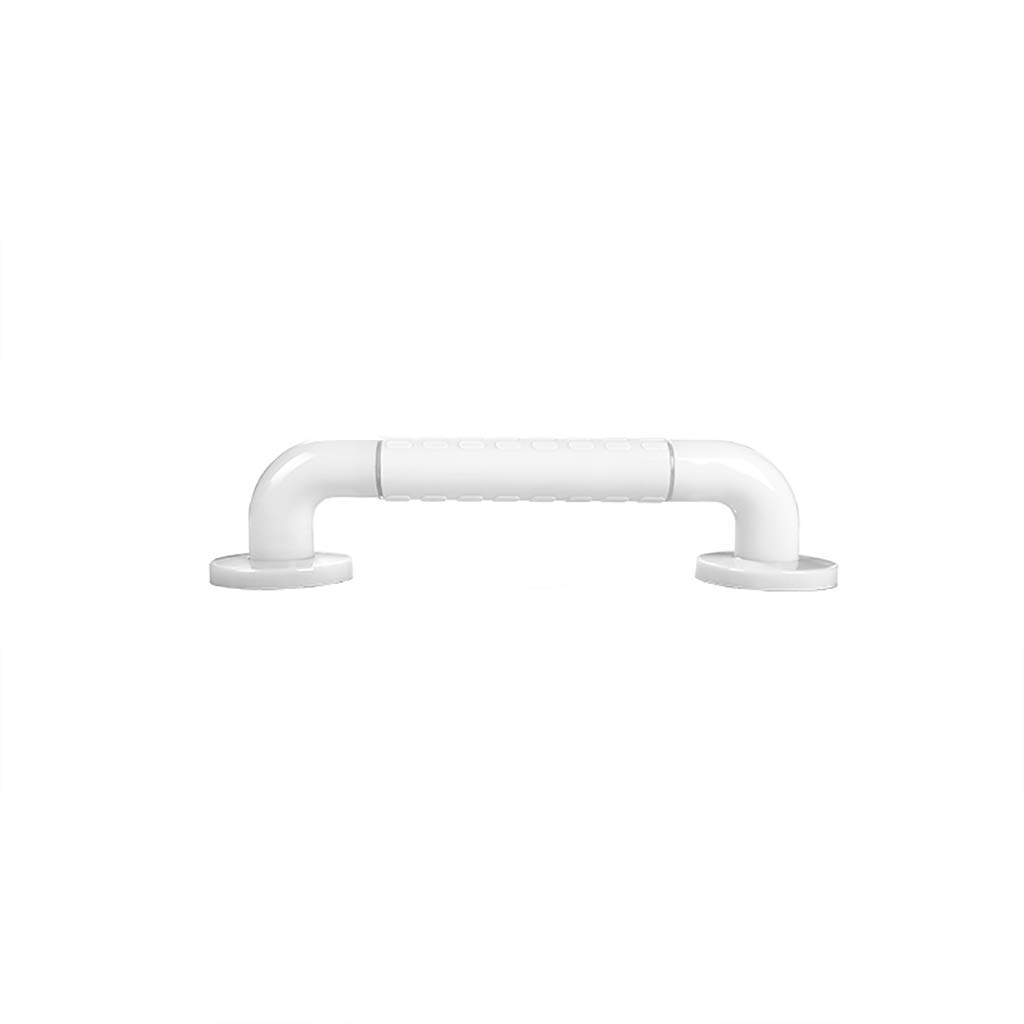 Bathroom Grab Bar, Stainless Steel Handrail, Safety Hand Rail Support, Safety Luminous Circles,Non Skid For Toddlers, Elderly, Seniors, Handicap, Disabled (Color : White, Size : 38cm)
