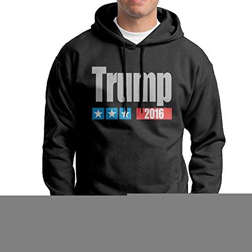 COREI779 Men's Trump 2016 President Gym Hooded Sweatshirt M (Drake Halloween Costume 2016)