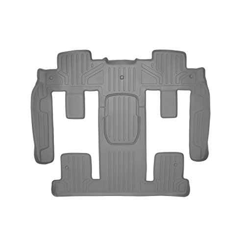 (SMARTLINER Floor Mats 2nd and 3rd Row Liner Grey for Traverse/Enclave / Acadia/Outlook (with 2nd Row Bucket Seats))