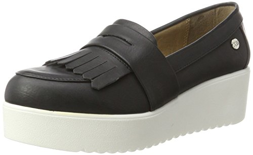 XTI Ladies Pu Mocassini Mirror Shoes Donna Black rxgwrqRB