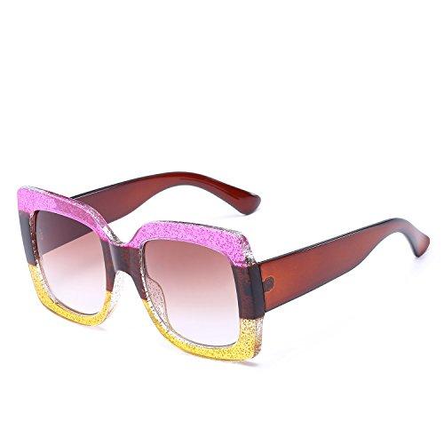 Gafas Sol Gafas Gafas Europa Sol Gafas Color YANJING Estados de y de de Retro UV 3 Mujer 3 de Sol Sol de Unidos de qOdWWE8w