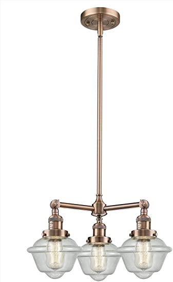 Innovations 207-BK-G1 3 Light Chandelier Matte Black