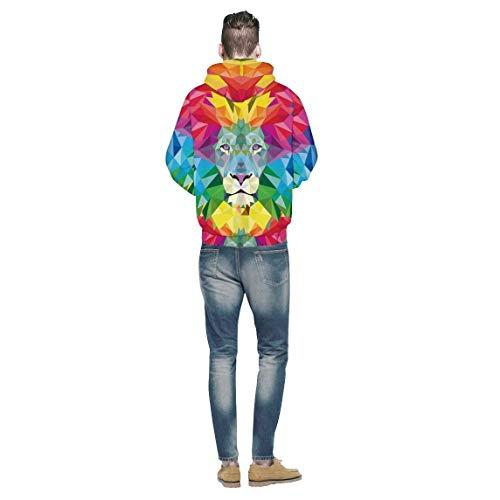 con con Swag 2 Unisex 3D 3D Felpa con Alta Lunga Colour Autunno Streetwear Stampa Coppia qualità Casual Sweatshirt Hoodie di Cappuccio Primaverile Felpa Manica Animalier Accogliente Cappuccio Moda Elegante wxqaw1FU