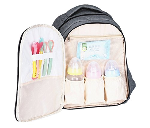 Bebé pañales bolso cambiador, pañales mochila, bolsa de cochecito de bebé bolsa de pañales cambiador incluido, correa, impermeable, Fashion Mum Mochila para viajar y uso diario