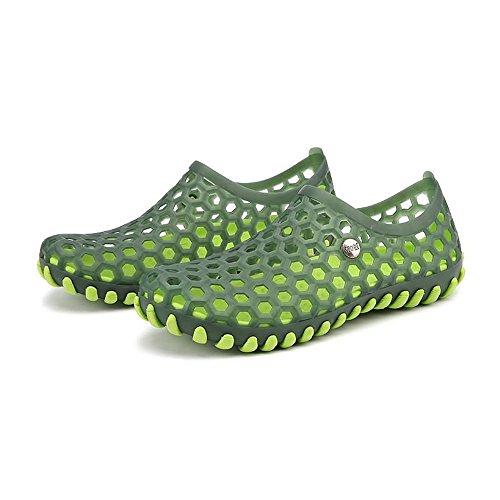 Antideslizantes al 43 Caminar Verde Zapatos de Vamp para el Red Huecos Zapatos Sandalias de Hombres tamaño Black cómodos 2018 Agua EU Libre Color Aire Sandalias en los IqFOOSwxX