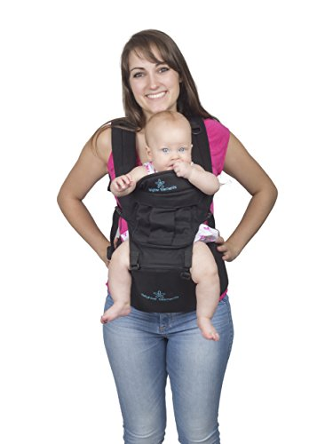 Five Position Baby Carrier with Hip Seat AND Hoodie – Baby Backpack and Kangaroo with Adjustable Waistband – Top Carriers for Newborn, Infant, & Toddler by Brighter Elements from Brighter Elements