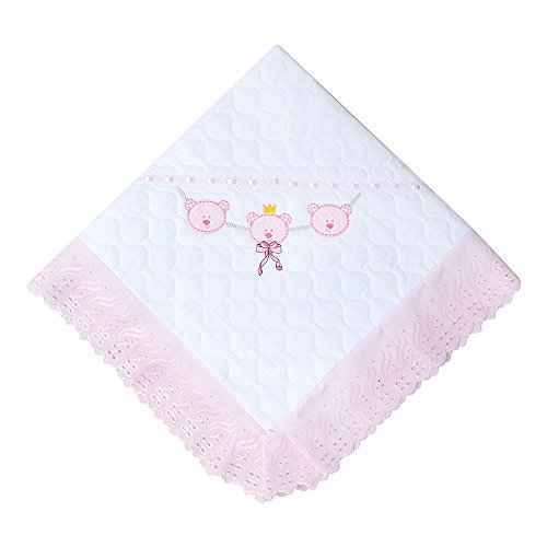 Manta Acolchoada, Papi Textil, Rosa, 90Cmx90Cm