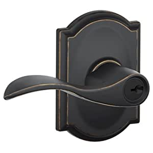Schlage F51aacc716cam Aged Bronze Accent Keyed Entry F51a
