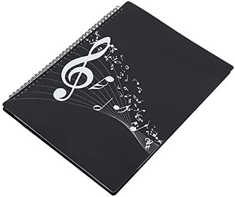 Folder, A4 Size, Themed Multifunctional Editable Writable Music Treble Clef Storage Holder, 20 Sheets, 40 Pages