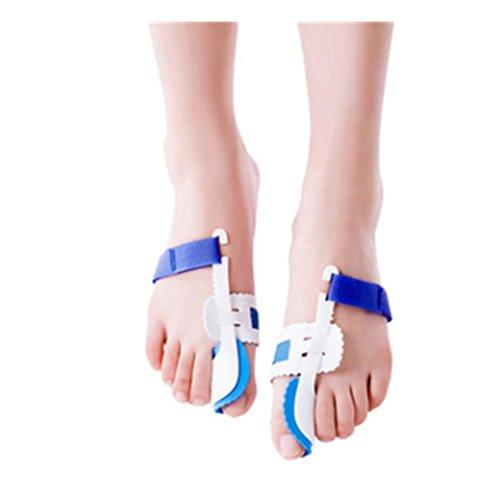 A Pair of Big Toe Bunion Straighteners Adjustable Velcro Bunion Night Splint Hammertoe Corrector Brace for Big Toes Joint Hallux Valgus Pain Relief Correctors Foot Care