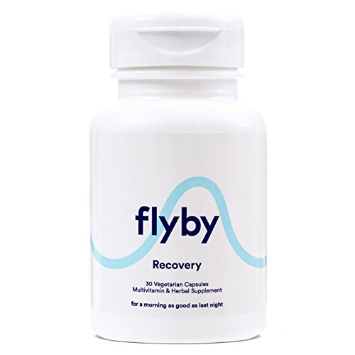 Flyby Hangover Cure & Prevention Pills (30 Capsules) | Dihydromyricetin (DHM), Chlorophyll, Prickly Pear, N-Acetyl-Cysteine, Milk Thistle for Alcohol Recovery | Certified Organic & Made in USA