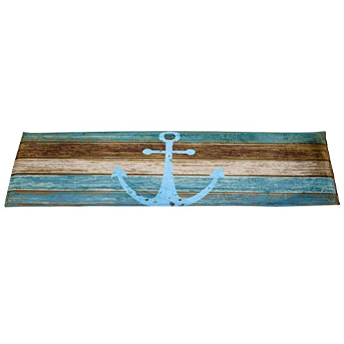 WINOMO Anchor Doormat Non Slip Nautical Home Decor 40x60cm
