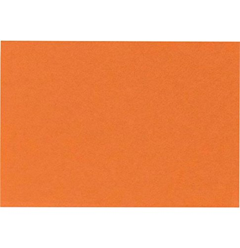 #17 Mini Flat Card (2 9/16 x 3 9/16) - Mandarin Orange (1000 Qty.) by Envelopes.com