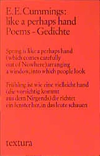 Like A Perhaps Hand Poems Gedichte Textura German