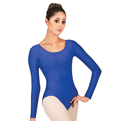Adult Long Sleeve Dance Leotard,D5103NUDS,Nude,Small