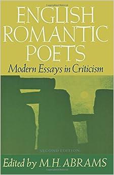 English Romantic Poets: Modern Essays in Criticism (Galaxy Books)