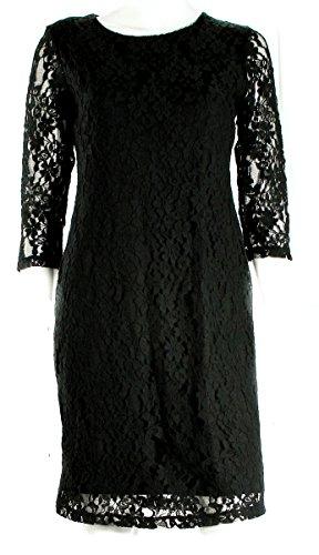Spense Petite Black 3/4 Sleeve Lace Dress Women's 8 Petite (Sleeve 3/4 Spense)