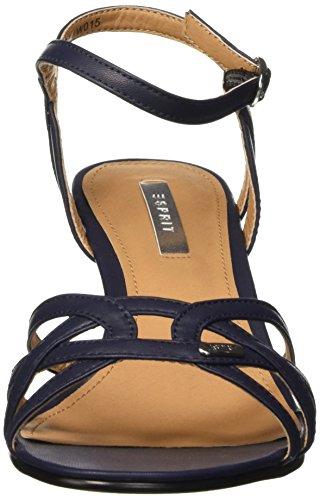 ESPRIT Damen Birkin Sandal Knöchelriemchen Blau (400 navy)