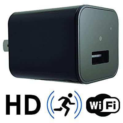Hidden Spy Camera USB Charger | Wi-Fi and Motion Detection | Stream Live Video Directly to your Phone | Perfect for Home & Office Security & Monitoring | Video Only