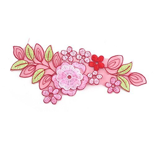 eDealMax フルール ポリエステル Forme Vêtements Broderie Couture Décor Patch アップリケ Dentelle Rose B07GS7FGQ8