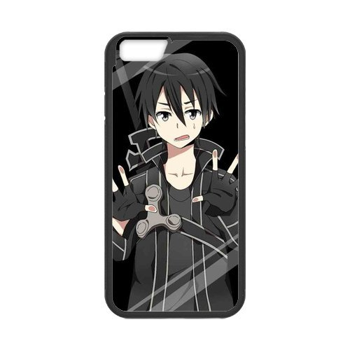 Fayruz- Personalized Protective Hard Textured Rubber Coated Cell Phone Case Cover Compatible with iPhone 6 & iPhone 6S - Sword Art Online F-i5G1080