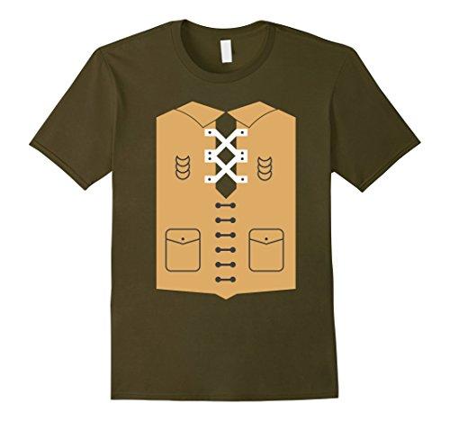 Slender Man Costume Amazon (Mens Pirate T Shirt Costume XL Olive)