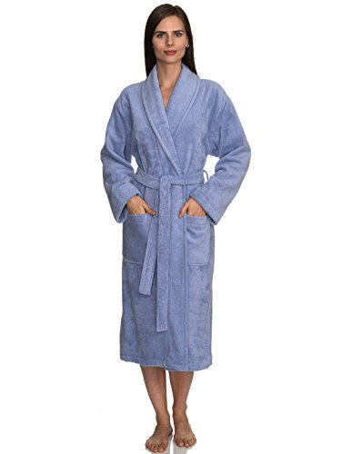 TowelSelections Women's Turkish Cotton Soft Bathrobe Terry Robe Medium/Large Thistle Down (Collection Cotton Cloth)