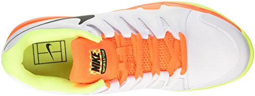Nike Zoom Vapor 9.5 Tour Clay, Scarpe da Tennis Uomo Multicolore (White/Black Volt Total Orange)