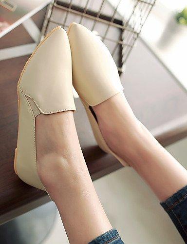 PDX/ Damenschuhe-Ballerinas-Outddor / Lässig-Vlies-Flacher Absatz-Komfort / Spitzschuh / Geschlossene Zehe-Schwarz / Gelb / Beige yellow-us5 / eu35 / uk3 / cn34