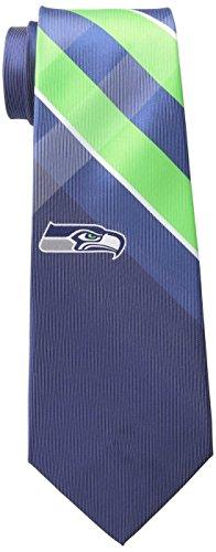 Eagles Wings NFL Seattle Seahawks Men's Woven Polyester Grid Necktie, One Size, Multicolor