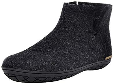 Glerups Unisex-Adult Mens GR-01 Low Boot W Rubber Sole Grey Size: 35.0