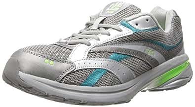 RYKA Women's Radiant Plus Walking Shoe,Chrome Silver/Steel Grey/Teal Blast/Electric Lime,5 M US