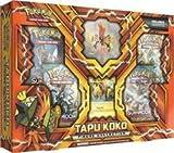 Pokemon TCG: Tapu Koko Figure Collection + Bonus GIFT 15x Ace's Metallic Premium Card Sleeves
