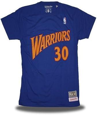 Mitchell & Ness Camiseta Retro Stephen Curry Golden State Warriors Color Azul (XXL): Amazon.es: Deportes y aire libre