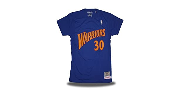 Mitchell & Ness Camiseta Retro Stephen Curry Golden State Warriors Color Azul: Amazon.es: Deportes y aire libre