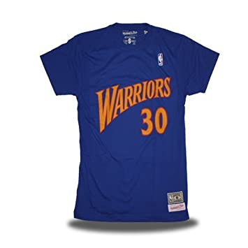 Mitchell & Ness Camiseta Retro Stephen Curry Golden State Warriors Color Azul ...