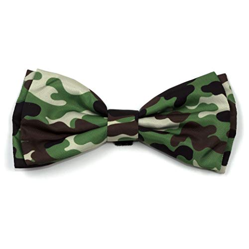 (The Worthy Dog Camo Camouflage Brown Bow Tie for Pets Brown, LG)