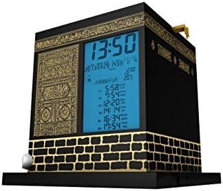 MIRAC Kaaba Azan Prayer Nimaz Clock, Islamic Table Adhaan Reminder Azan Saati Black