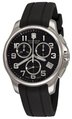 Victorinox Swiss Army Men's 241452 Officers Chrono Black Dial Watch