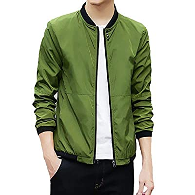YOcheerful Deals Men Sportswear Coat Gilet Boy Solid Bomber Jacket Gym Running Top Blouse Outwear