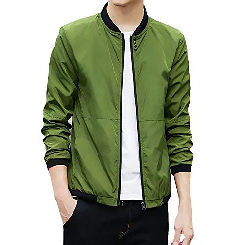 iYYVV Mens Autumn Winter Thin Loose Baseball Jacket Coat Tops Bomber Jacket – DiZiSports Store