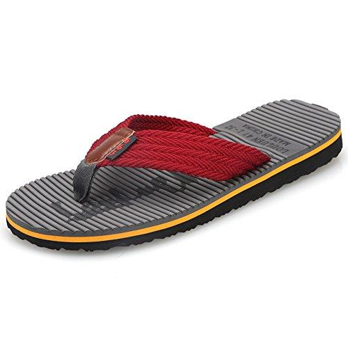 CIOR Men's Handmade Fashion Beach Slipper Indoor and Outdoor Classical Flip-flop Thong Sandals,SL3802,Dark - Fashion Beach Men