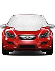 2021 Newest Kekilo Car Windshield Sun Cover Windscreen Frost Cover Snow Magnetic Cover Windshield Sun Protector Waterproof Dust Cover and Ice Protector in All Weather Car Cover with Two Mirror Covers