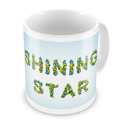 Coffee Mug Shining Star Stars Green Blue Rendering - The Shining Coffee Mug