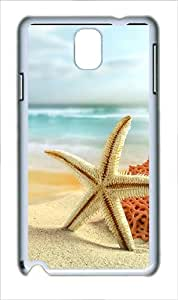 Samsung Galaxy Note 3 Case Cover - Starfish On The Beach Custom PC Case for Samsung Galaxy Note 3 / Note III/ N9000 White