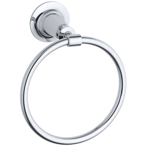 Kohler K-11057-CP Archer Towel Ring, Polished Chrome chic